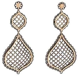 14K Ornate Drop Earrings