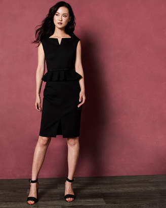 Ted Baker NADAED Bow detail peplum dress