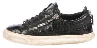 Giuseppe Zanotti Leather Low-Top Sneakers