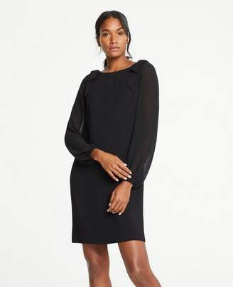 Ann Taylor Shoulder Bow Shift Dress