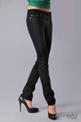 Nobody Mod Straight Leg Jeans in Black