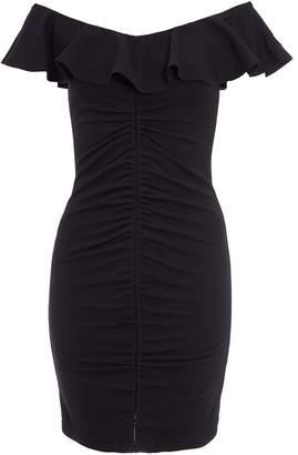 Quiz Black Frill Bodycon Dress