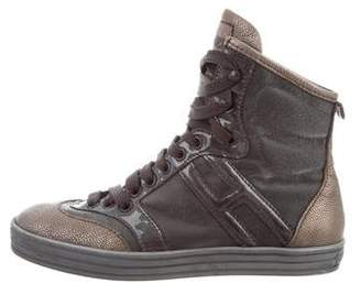 Hogan Metallic High-Top Sneakers