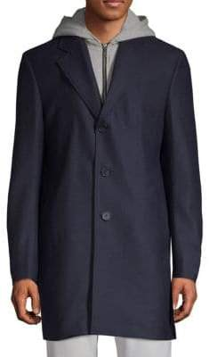 Saks Fifth Avenue Wool Blend Topcoat