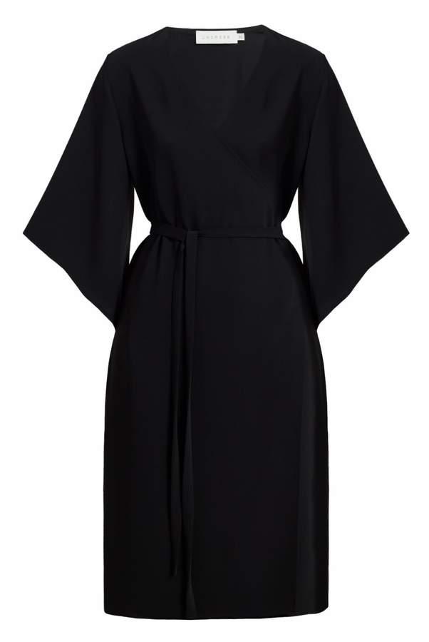 UNDRESS - Alisha Black Wide Sleeve Midi Wrap Dress