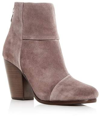 Rag & Bone Women's Newbury Suede Cap Toe High-Heel Booties