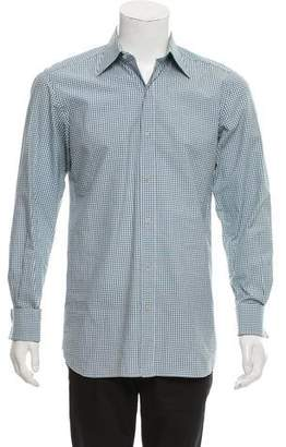 Tom Ford Gingham French Cuff Button-Up Shirt