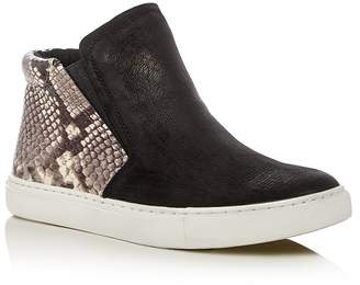 Kenneth Cole Kalvin Snake-Embossed High Top Sneakers $130 thestylecure.com