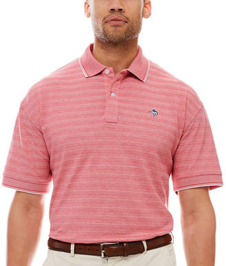 BISCAYNE BAY Biscayne Bay Short-Sleeve Striped Polo