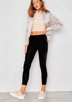 Missy Empire Missyempire Aya Black Velvet Leggings
