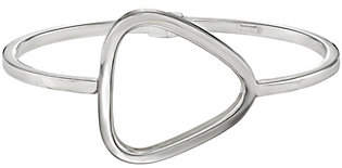 Silver Style Sterling Open Triangle Hinged Bangle, 9.6g by S