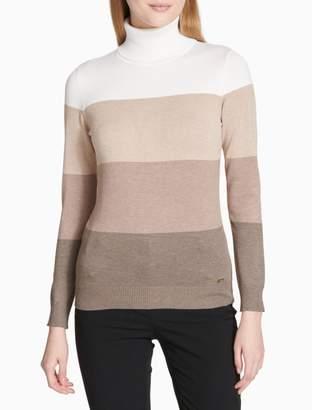 Calvin Klein Ombre Colorblock Turtleneck