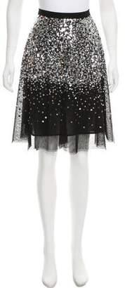 MICHAEL Michael Kors Sequin Knee-Length Skirt