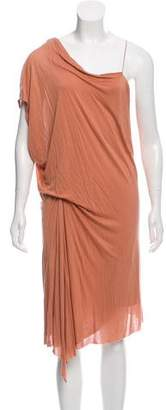 Helmut Lang One-Shoulder Midi Dress