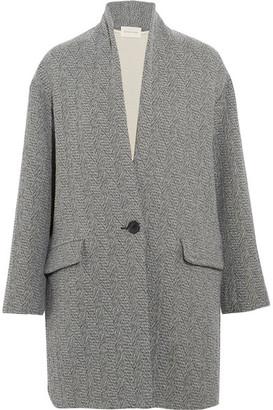 Étoile Isabel Marant - Edilon Woven Coat - Gray $560 thestylecure.com