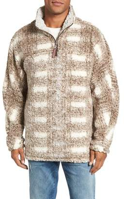 True Grit Big Plaid Frosty Tipped Faux Fur Pullover