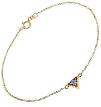 Jennifer Meyer Turquoise and Ruby Triangle Inlay Bracelet