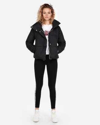 Express Fold-Over Collar Puffer Coat