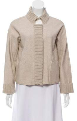Oscar de la Renta Wool Button-Up Cardigan