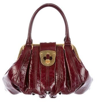 Alexander McQueen Alexander McQueen Embossed Patent Leather Novak Bag