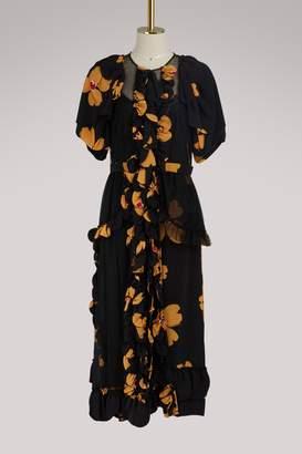 Simone Rocha Silk maxi dress
