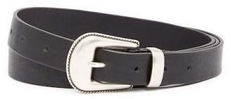 Frye Narrow Roper Leather Belt