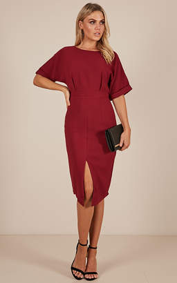 Showpo Run the Show dress in wine - 6 (XS) Sale Dresses