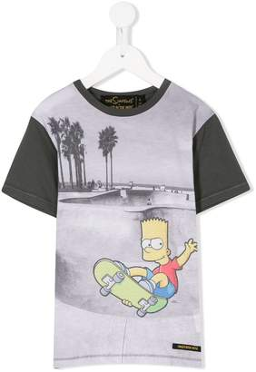 Finger In The Nose Bart Simpson print T-shirt