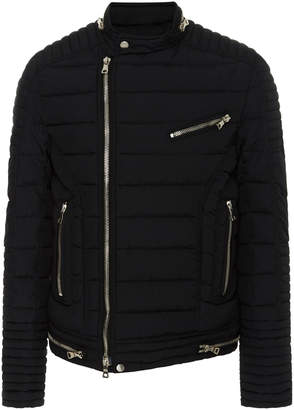 Balmain Quilted-Shell Biker Jacket