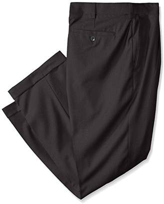 Louis Raphael Rosso Men's Big-Tall Super 150 Twill Pleated Dress Pant with Comfort Waist