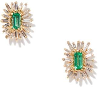 Suzanne Kalan Emerald Flower Earring