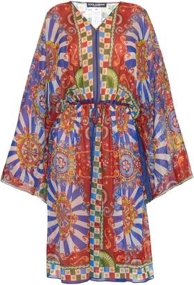 DOLCE & GABBANA Carretto-print silk kaftan $1,626 thestylecure.com