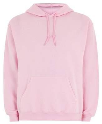 Topman Mens Pink Overhead Hoodie