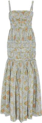 Brock Collection Olinda Floral Cotton Maxi Dress