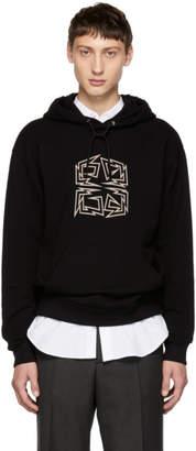 Givenchy Black Zig Zag 4G Logo Hoodie