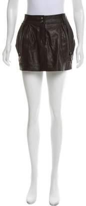 Diane von Furstenberg Jodphur Leather Skirt