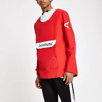 River Island Arcminute red popover jacket