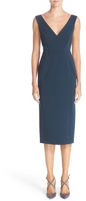Women's Nordstrom Signature And Caroline Issa Double V-Neck Ponte Knit Dress $799 thestylecure.com