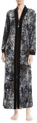 Diamond Tea Velvet Full-Zip Robe