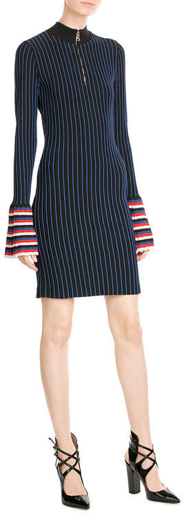 Emilio Pucci Emilio Pucci Striped Knit Dress with Contrast Cuffs
