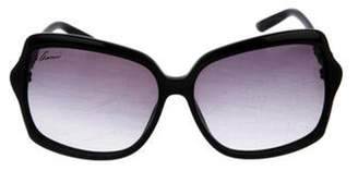 Gucci Bamboo Embellished Gradient Sunglasses Black Bamboo Embellished Gradient Sunglasses