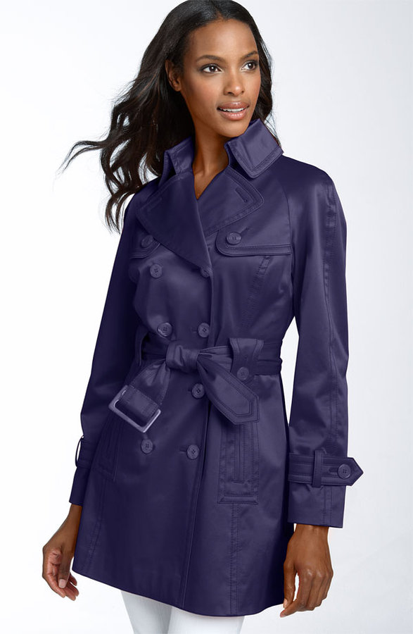 Jessica Simpson Satin Trench Topper