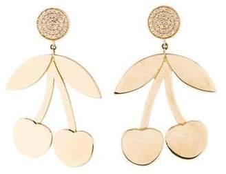 Sydney Evan 14K Diamond Cherry Drop Earrings
