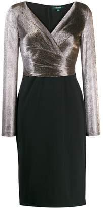 Lauren Ralph Lauren V-neck midi dress