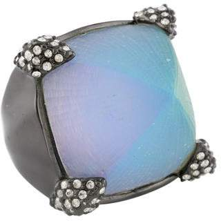 Alexis Bittar Lucite & Crystal Cocktail Ring