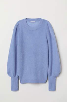H&M Mohair-blend Sweater - Blue
