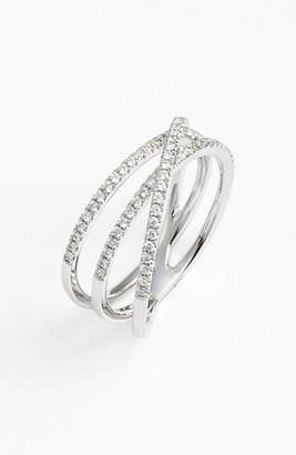 Women's Bony Levy Crossover Three-Row Diamond Ring (Nordstrom Exclusive) $1,595 thestylecure.com