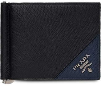 Prada Two-tone logo wallet
