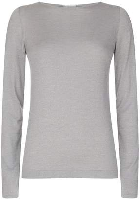 Brunello Cucinelli Lurex Long Sleeve T-Shirt