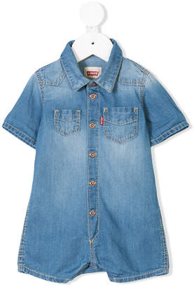 Levi's Kids denim playsuit